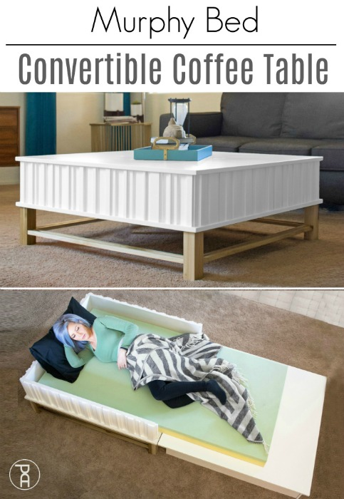 coffee table murphy bed