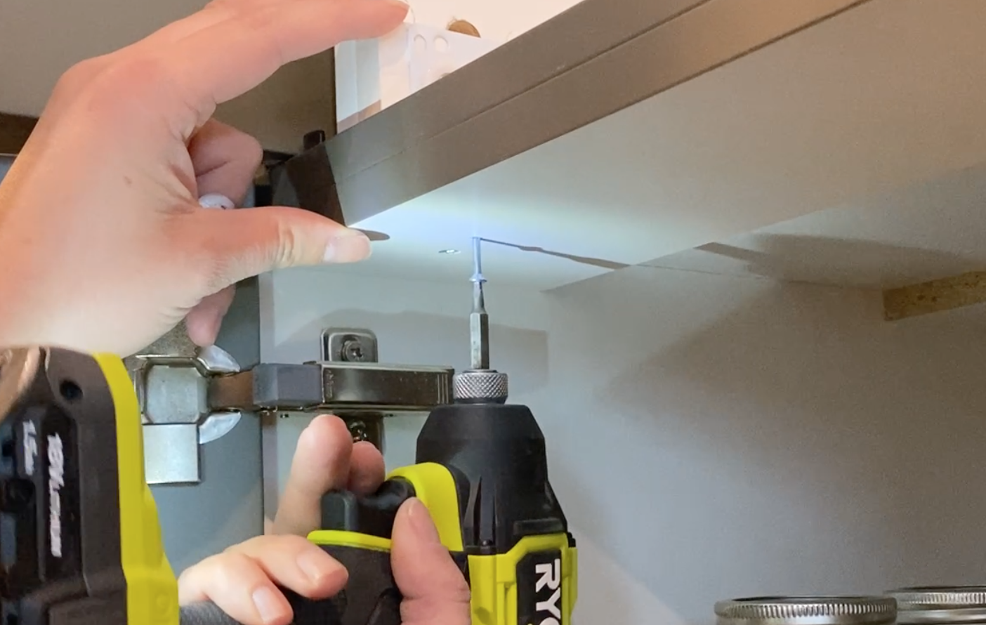 DIY Pull out shelf for Kitchen cabinets