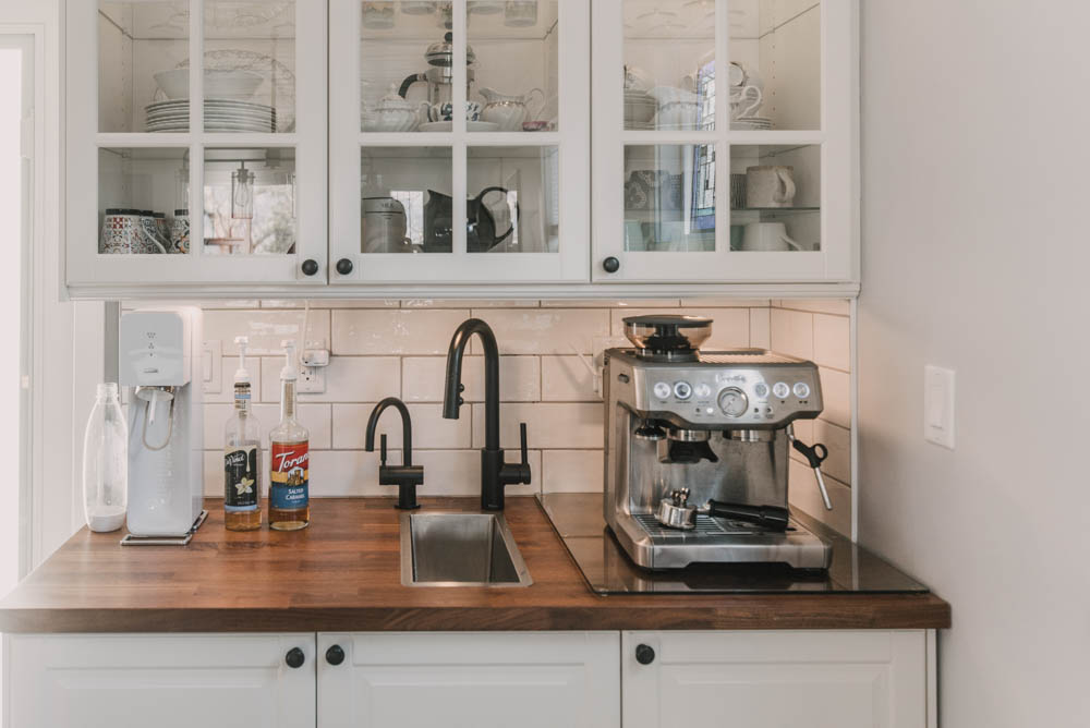 Farmhouse kitchen coffee bar