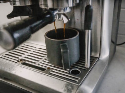 Breville Barista Express in use