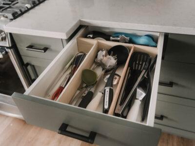 DIY No slide drawer dividers