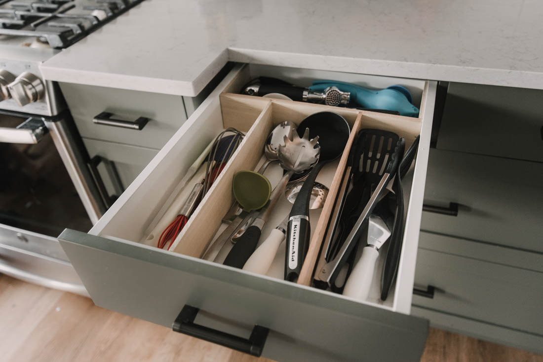 DIY No slide drawer dividers