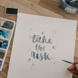 Tips for Watercolor Brush Lettering