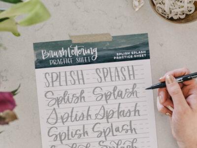splish splash practice sheet