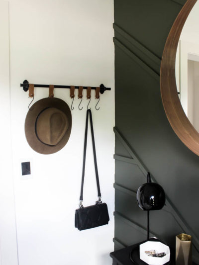 DIY hooks with Leather