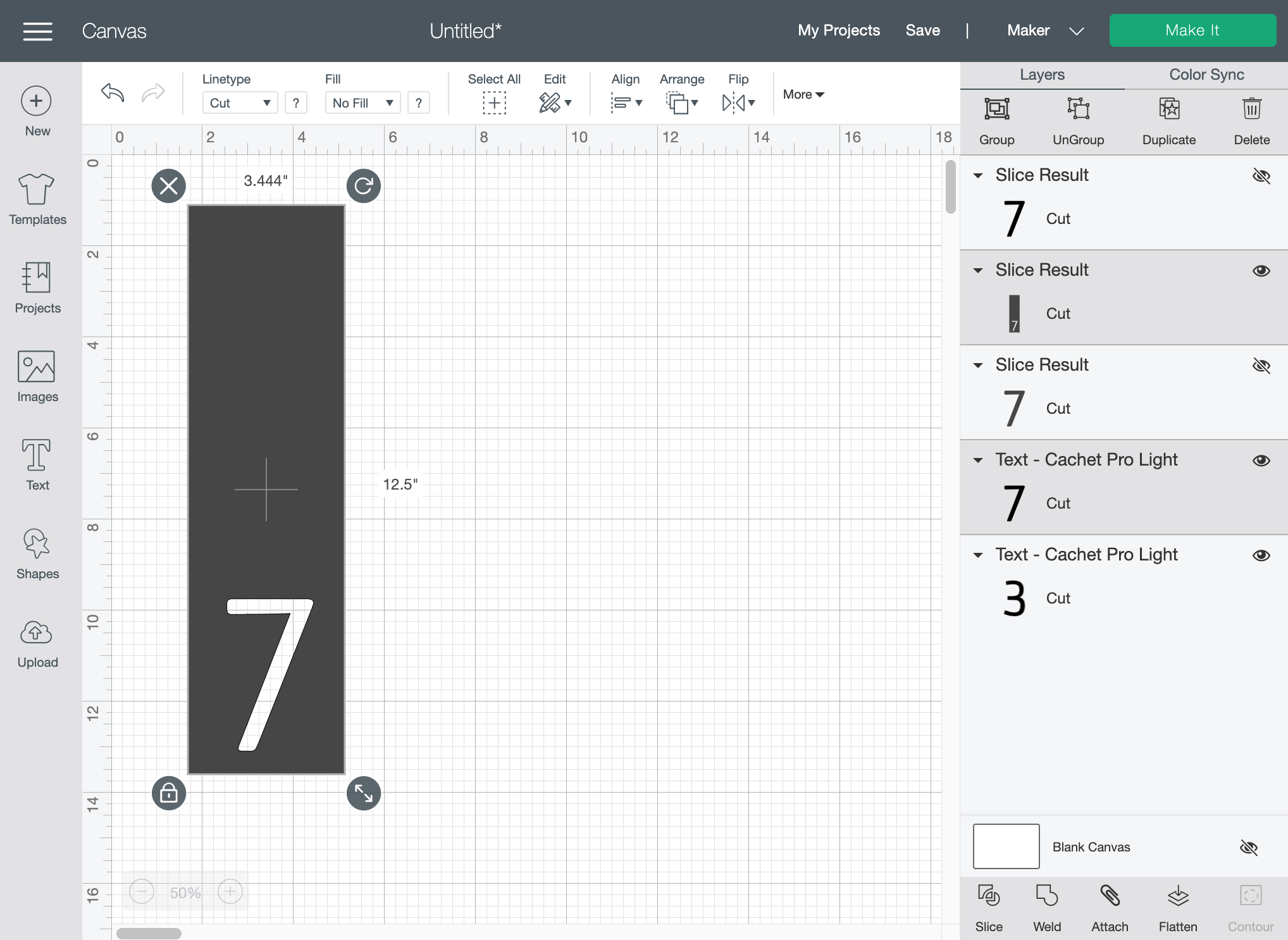 How to use the slice tool for multiple layers