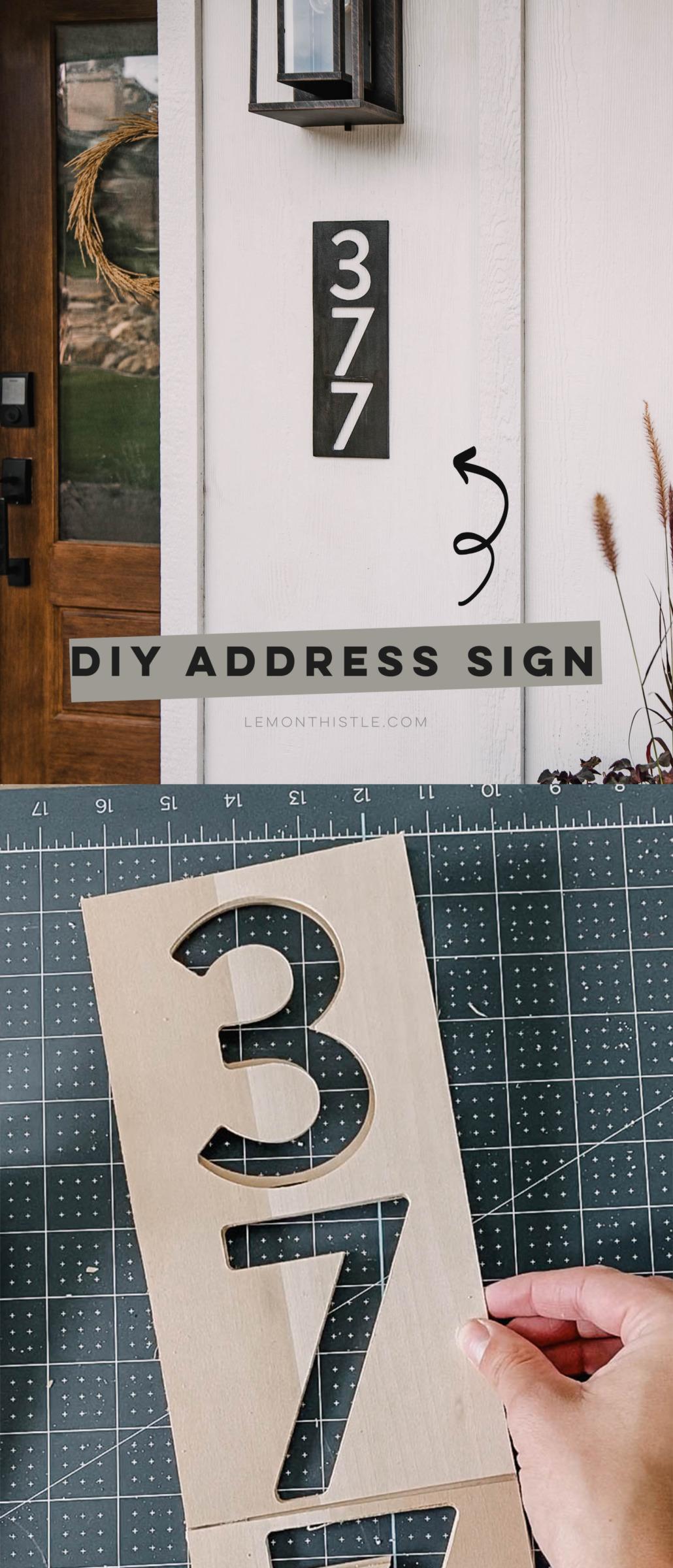 DIY Modern Address Sign
