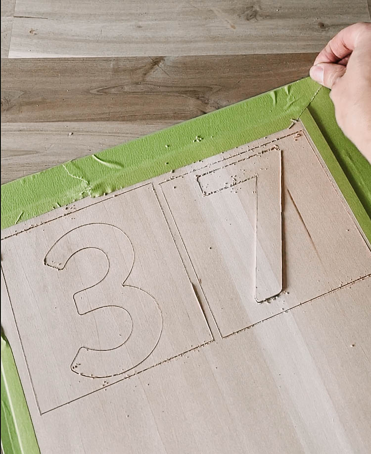 DIY modern address sign from wood with the Cricut Maker