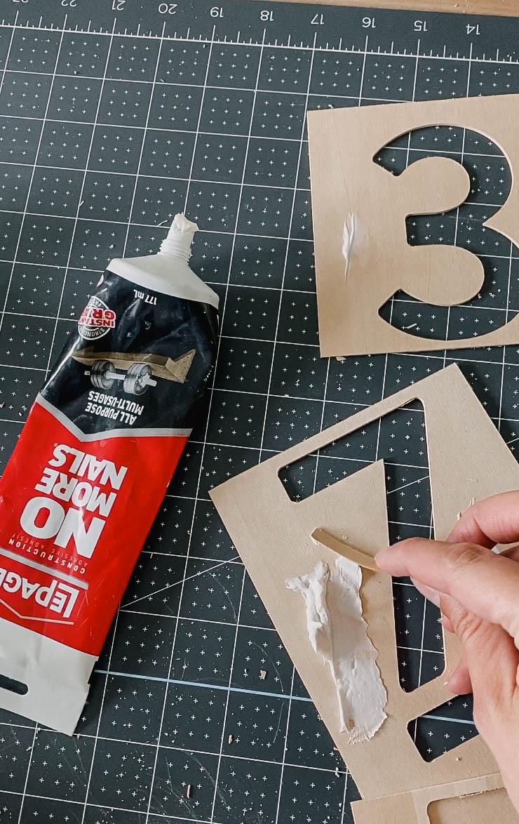 how to attach thin wood to mimic metal address signs