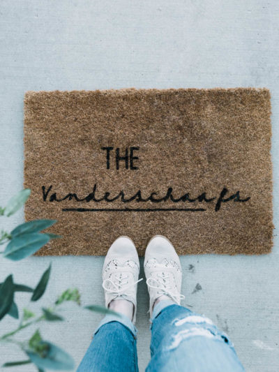 DIY Doormat with Cricut