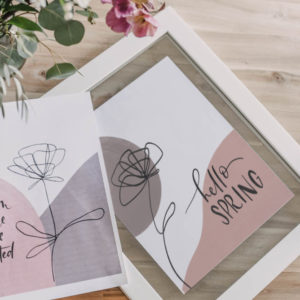 2 Free Printables for Modern Spring Home Decor