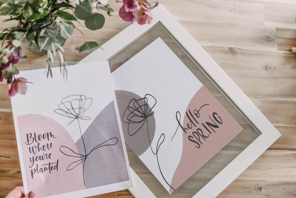 2 Free Printables for Modern Spring Home Decor