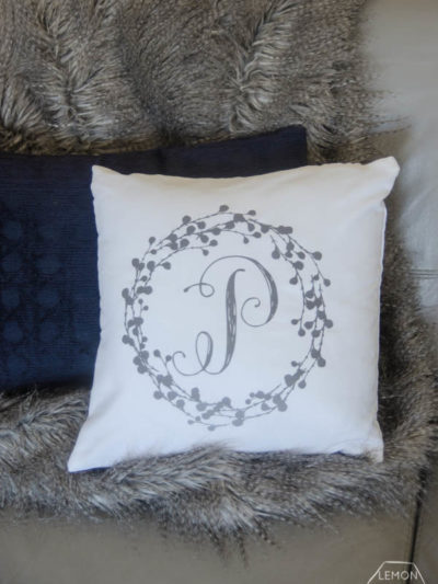 DIY Monogrammed Pillow