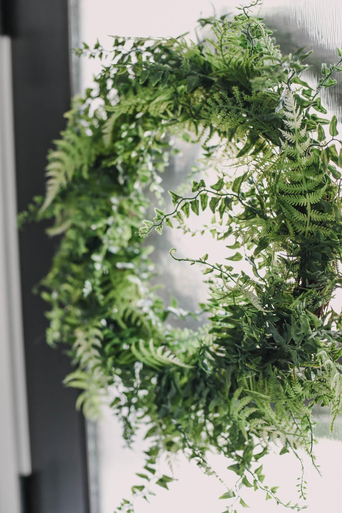 Faux Fern Spring Wreath