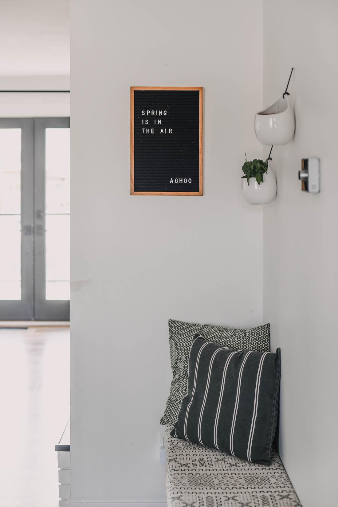 Minimal Spring Home Decor