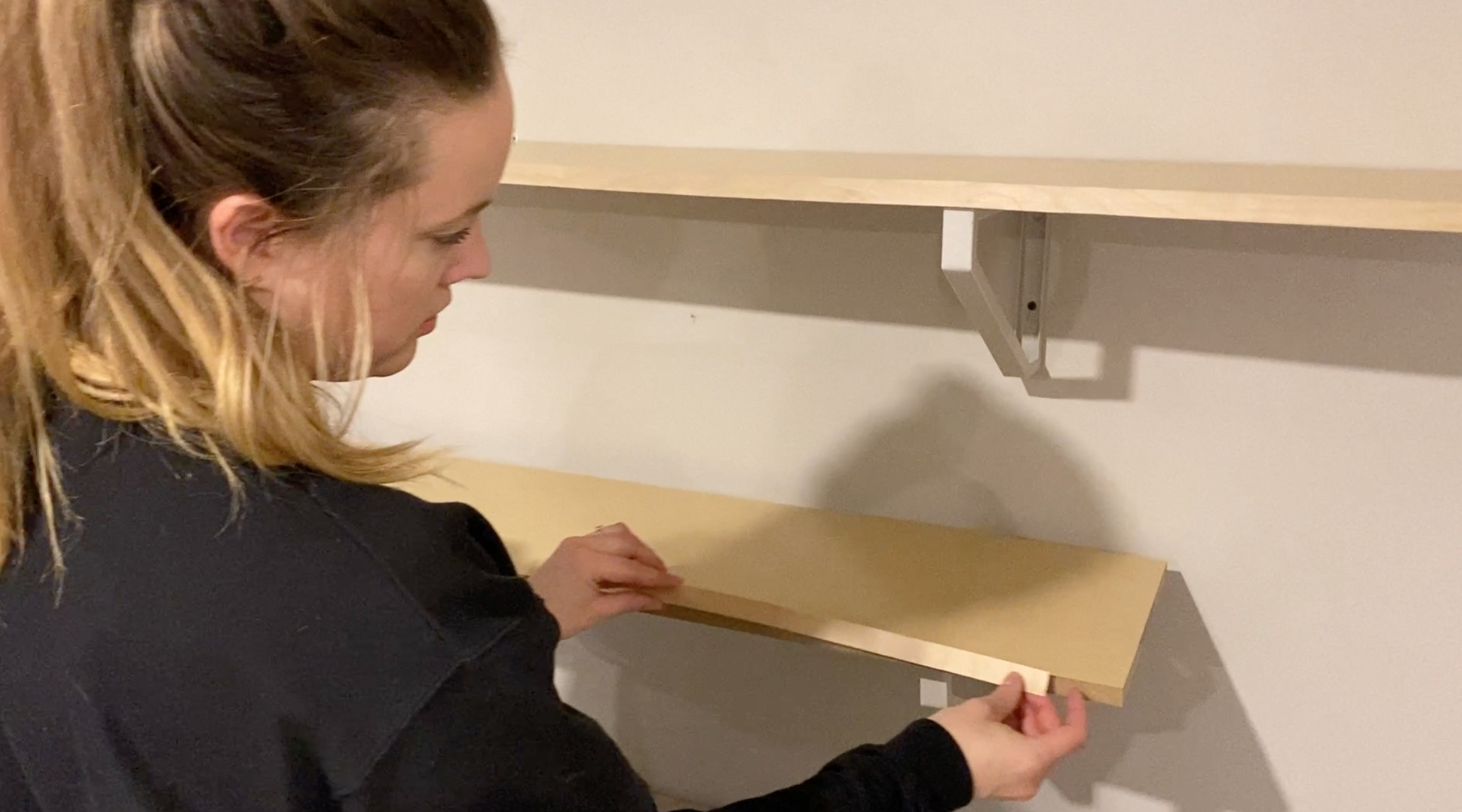 Edging Particle board shelves for a modern look