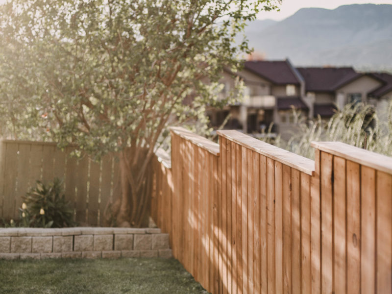 Staining a fence with a paint sprayer