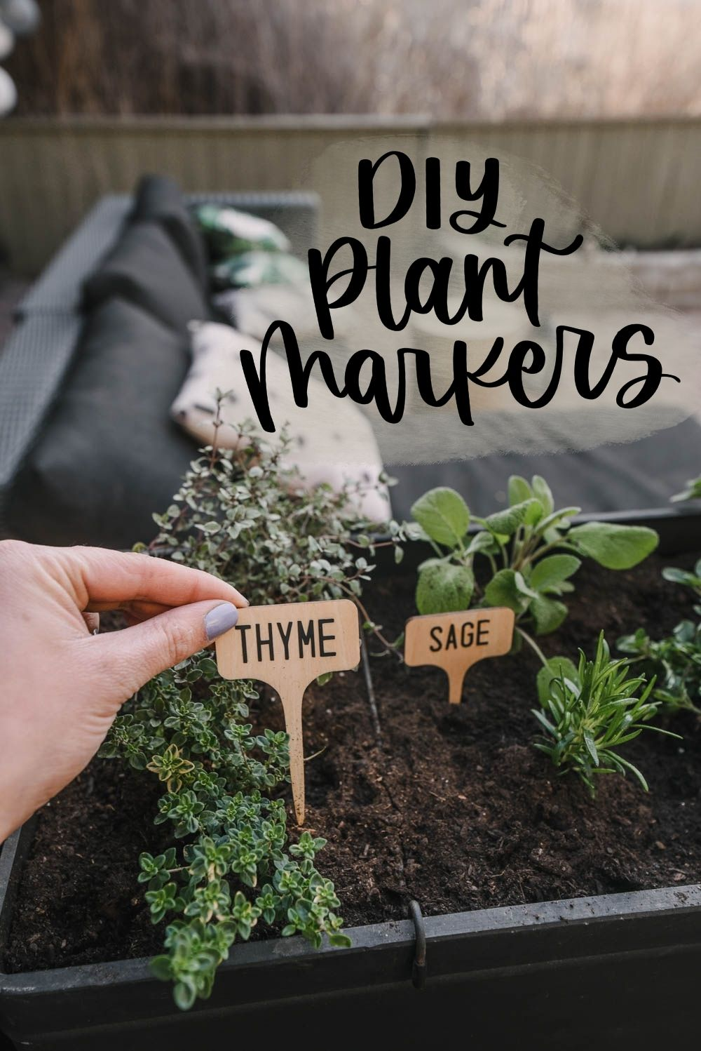 DIY wooden plant markers with Cricut Joy