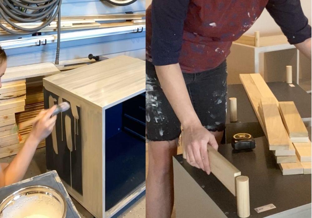 Ikea furniture makeover in progress