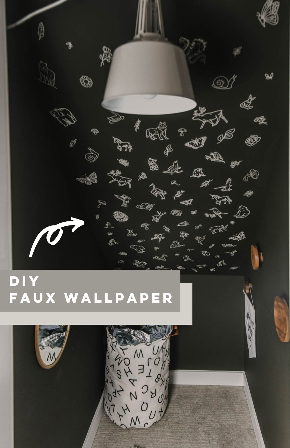 Magical wallpapered ceiling (diy!)