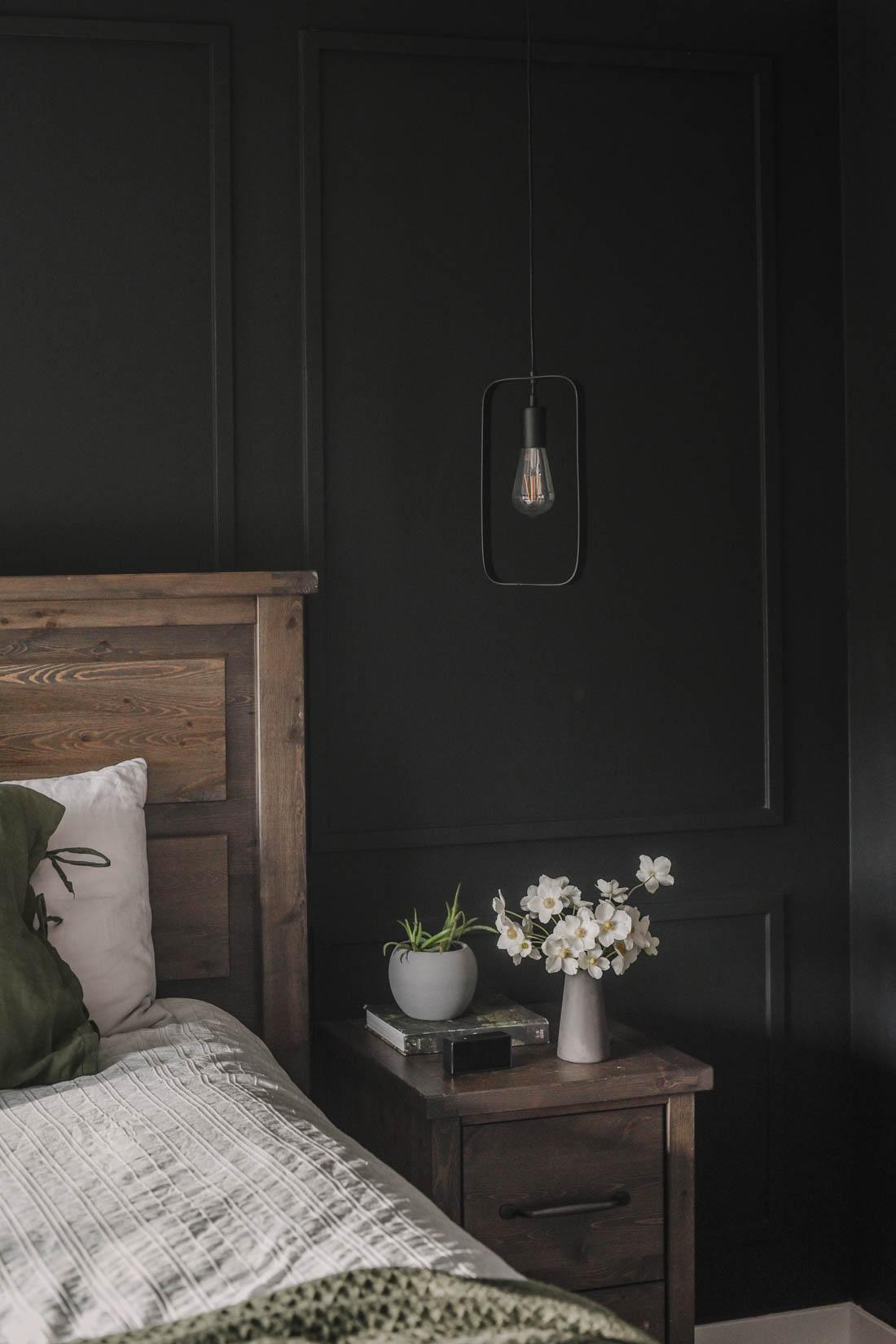 Modern Black Bedroom Tour