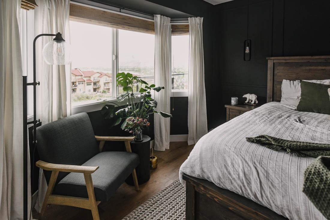 Moody Black Bedroom Makeover