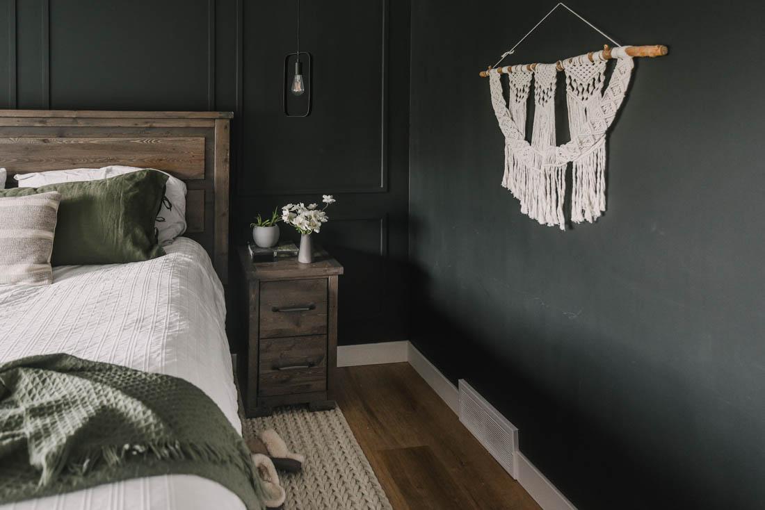 All Black Master Bedroom