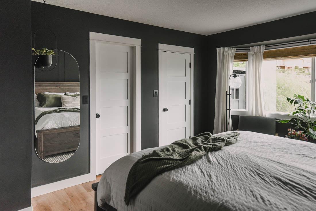 Modern black bedroom reveal