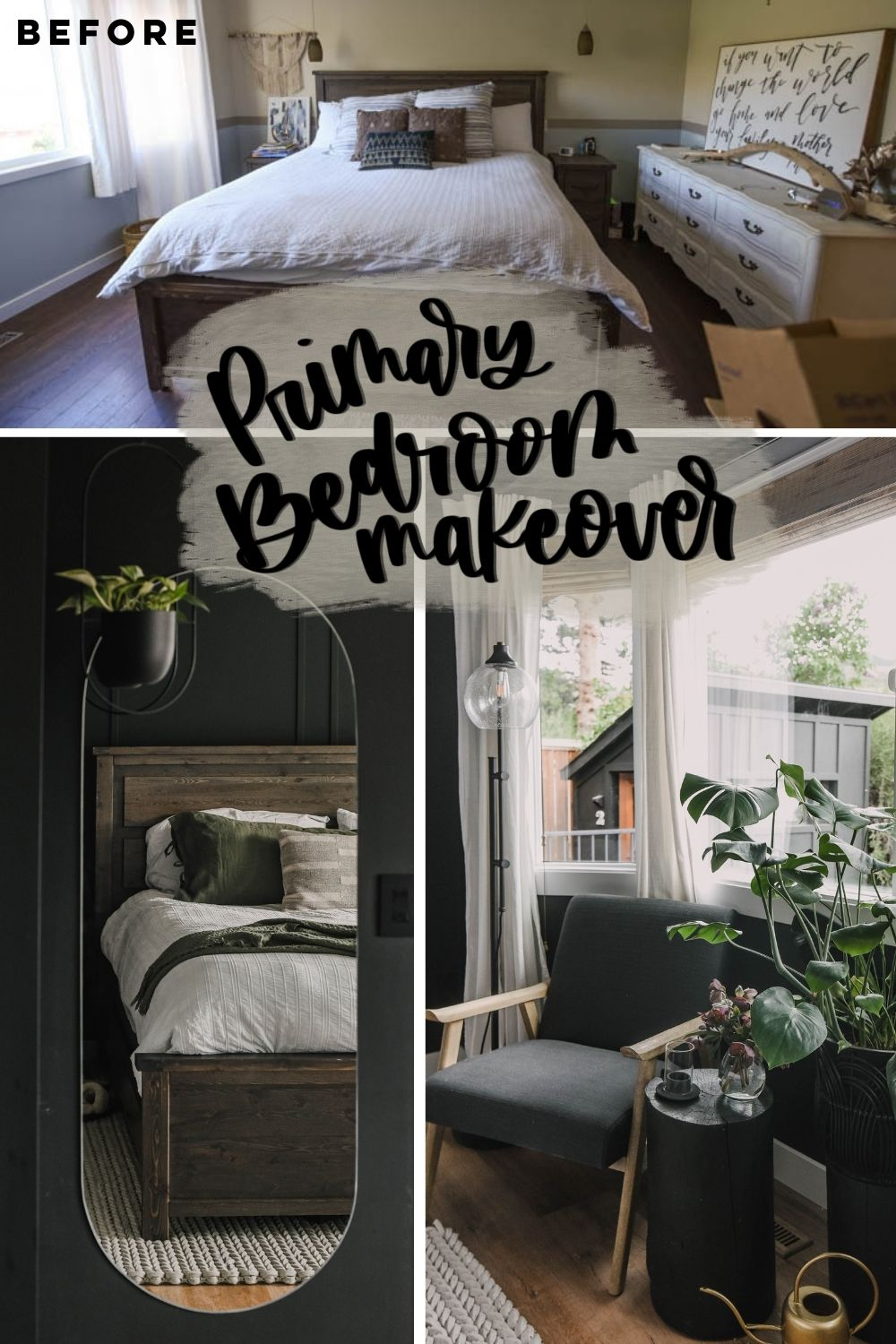 BEFORE AND AFTER BEDROOM TRANSFORMATION