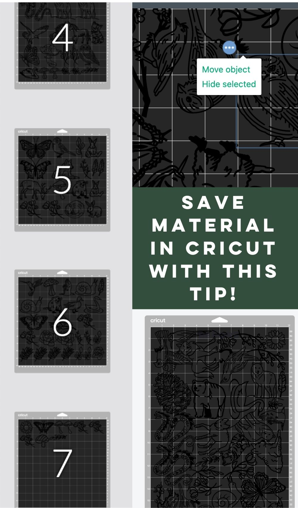 How to arrange designs for less wasted vinyl!