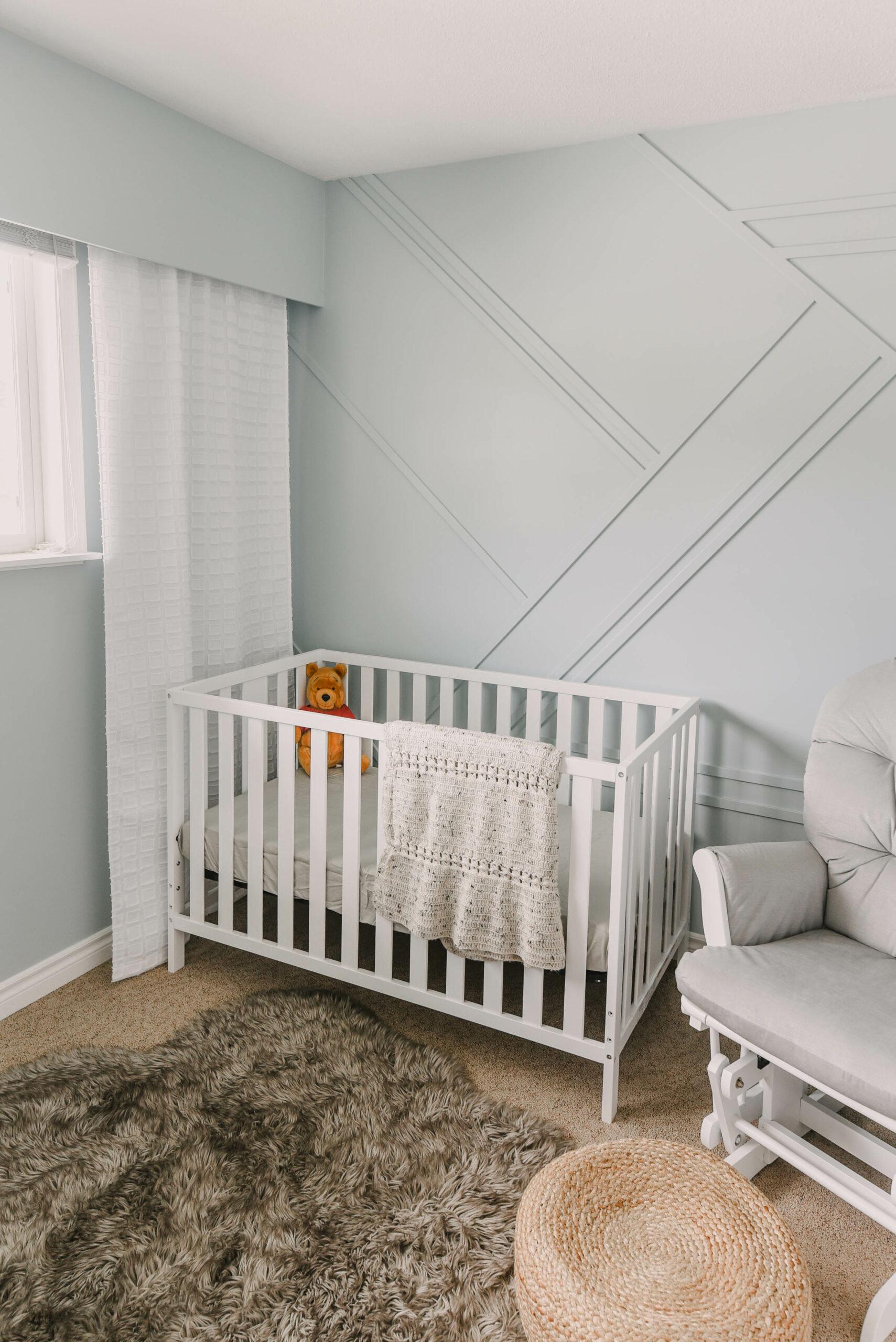 Modern Blue Gender Neutral Nursery Reveal