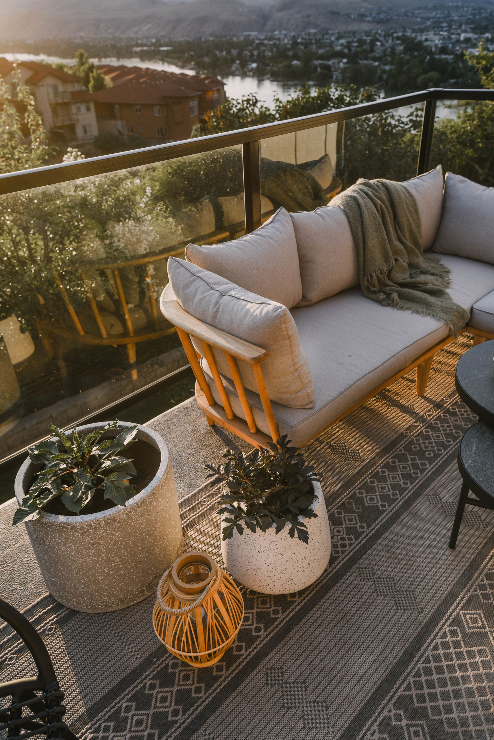 wood outdoor sectional