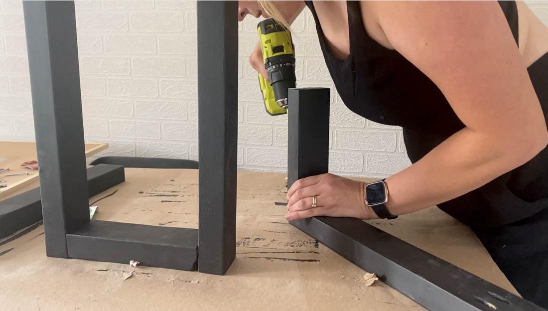 DIY Table legs for a Live Edge Table