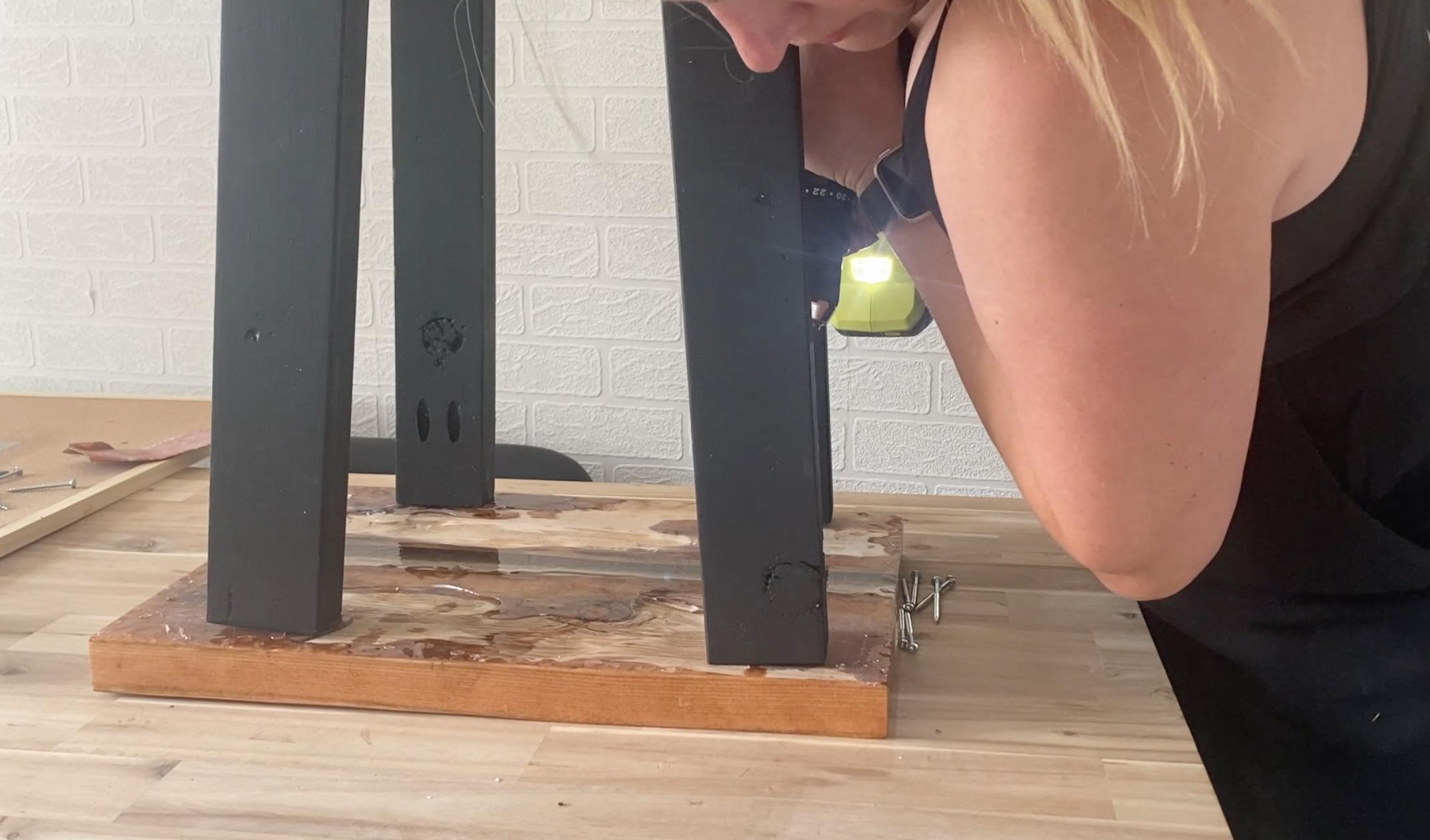 DIY Table Legs for a modern table top