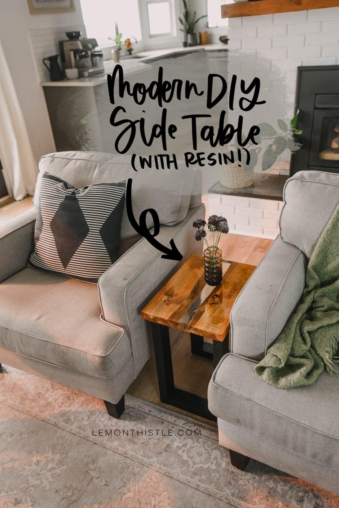 Modern DIY Side Table Tutorial
