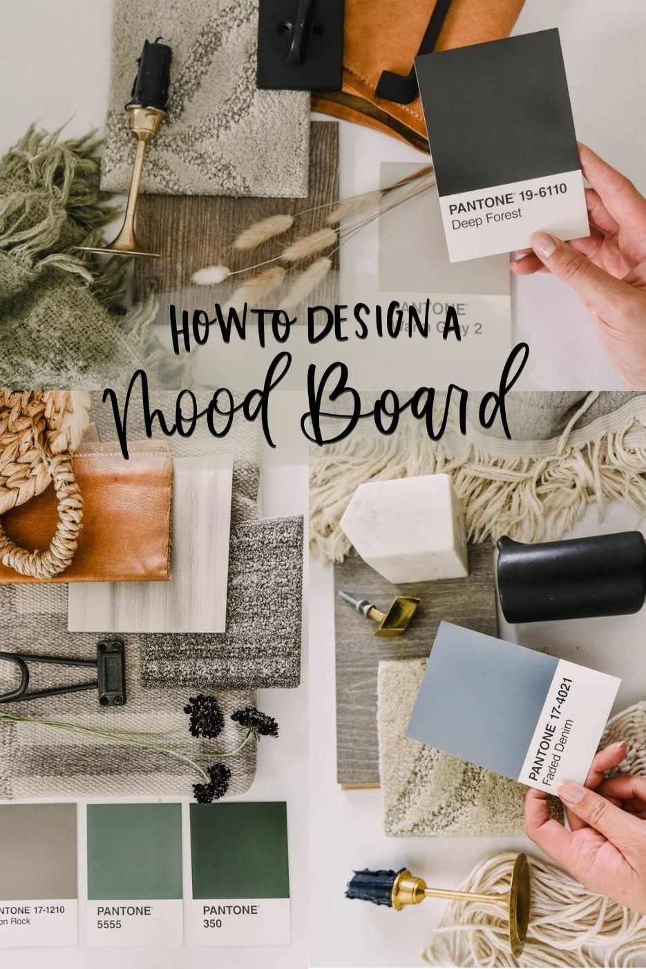 Collage: How to design a mood board for a room makeover
