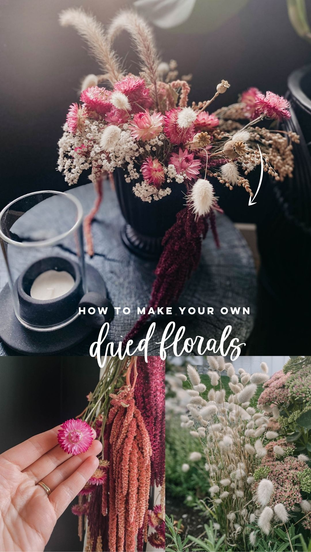 How to dry florals for decor