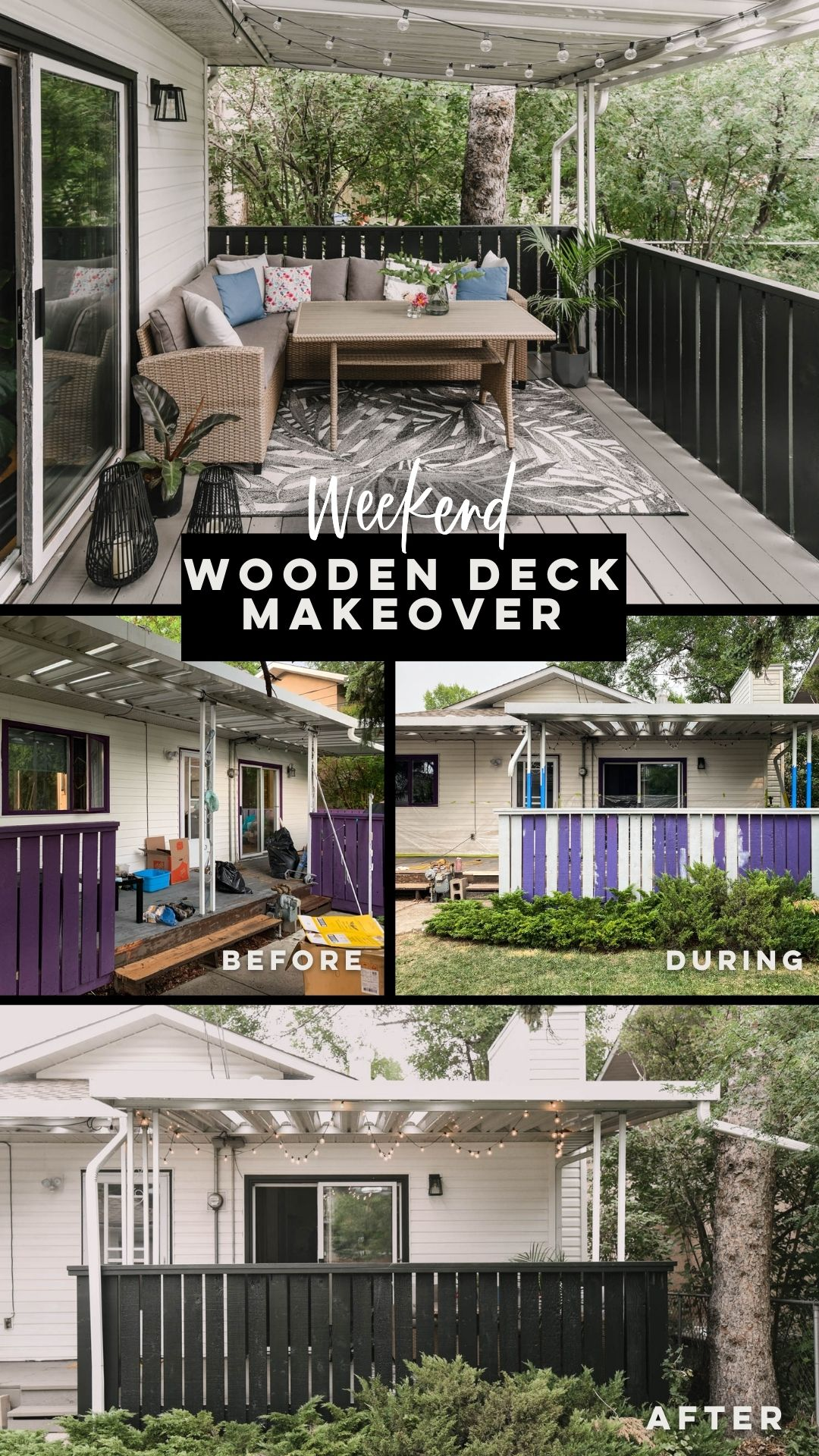 Wooden Deck Makeover done in a Weekend!