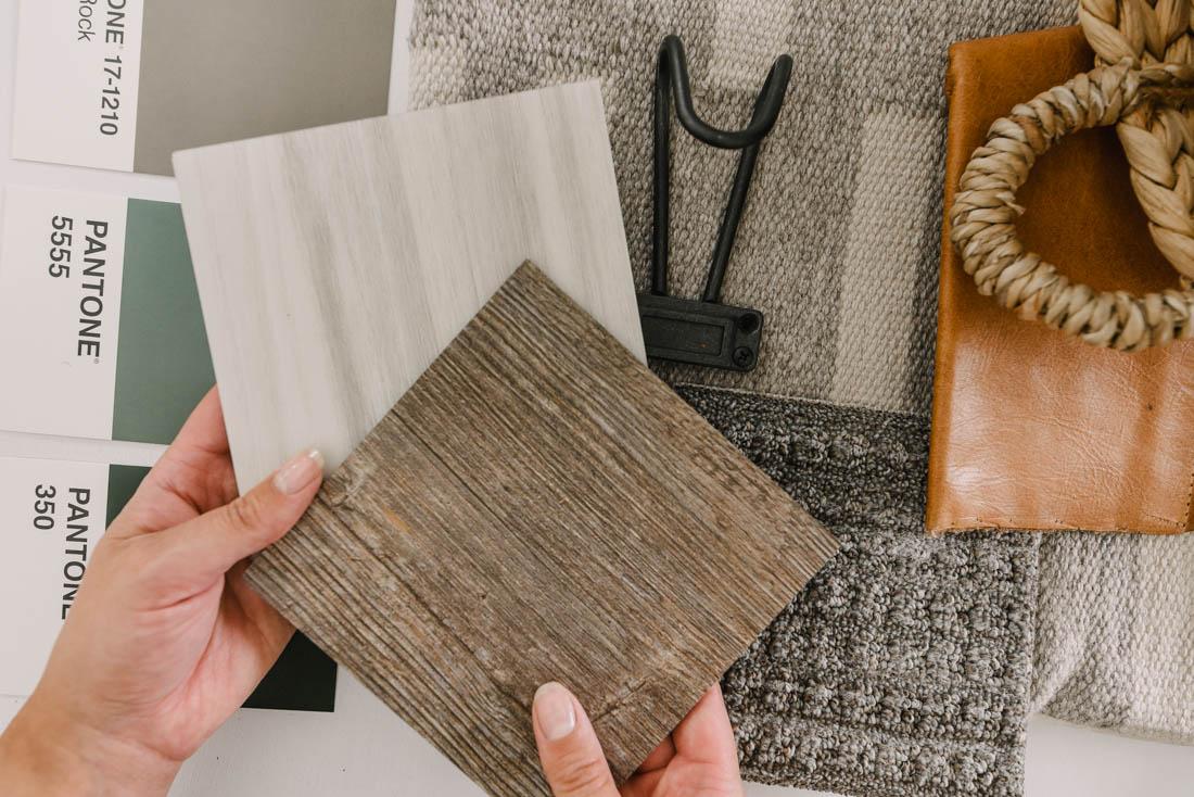 choosing flooring using a mood board