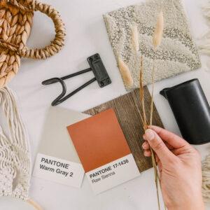 Terracotta and neutrals design board