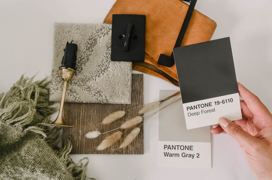 Choosing paint colours for a room makeover using a mood board