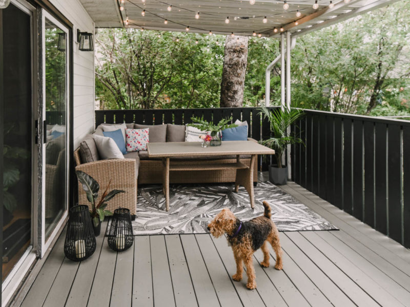 Old wood patio makeover