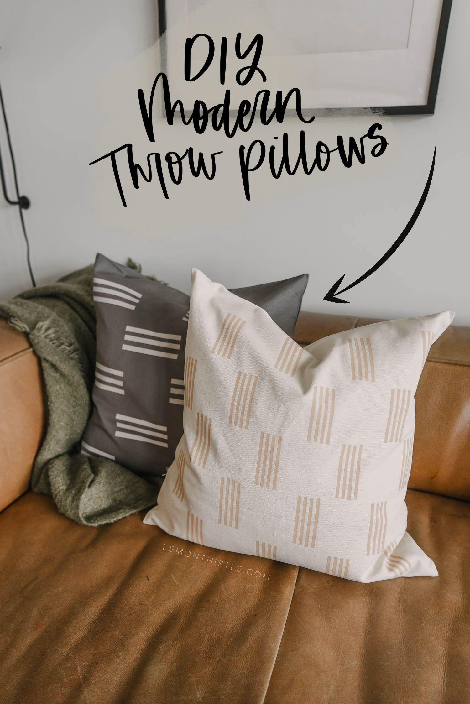 DIY Throw Pillow Covers for modern home decor