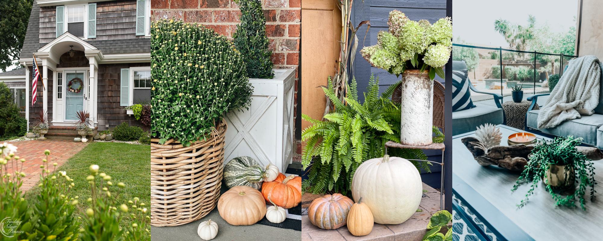 Autumn decorated outdoor spaces