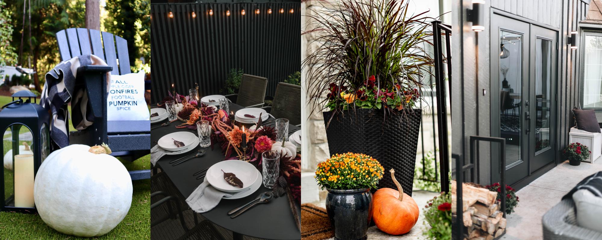 Fall patio decor ideas