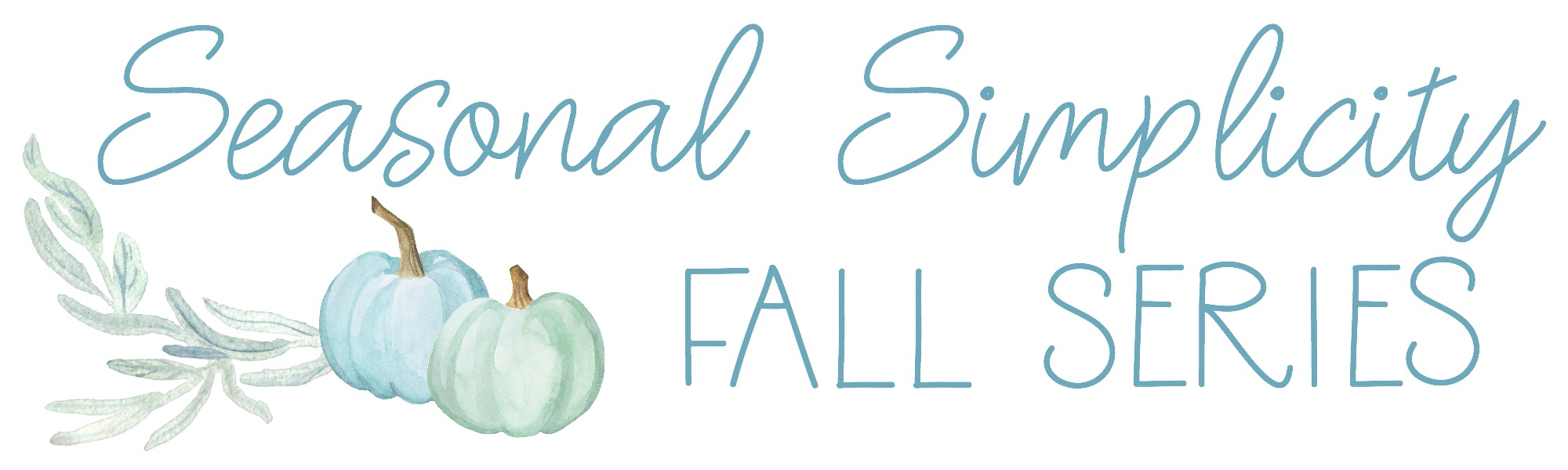 Fall Seasonal Simplicity Series Text Image