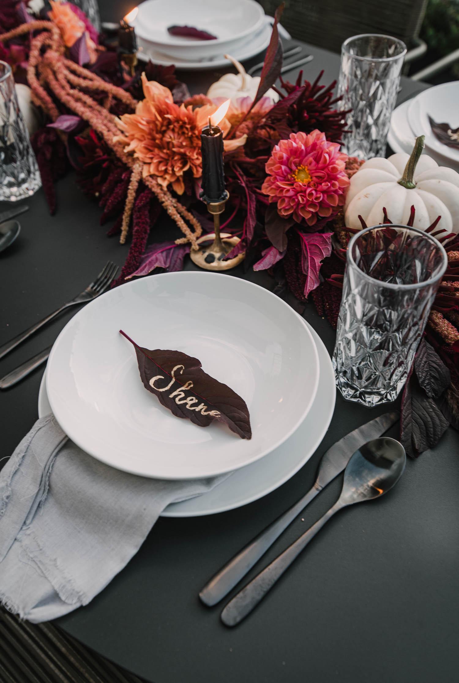 Love the Dark autumn tablescape