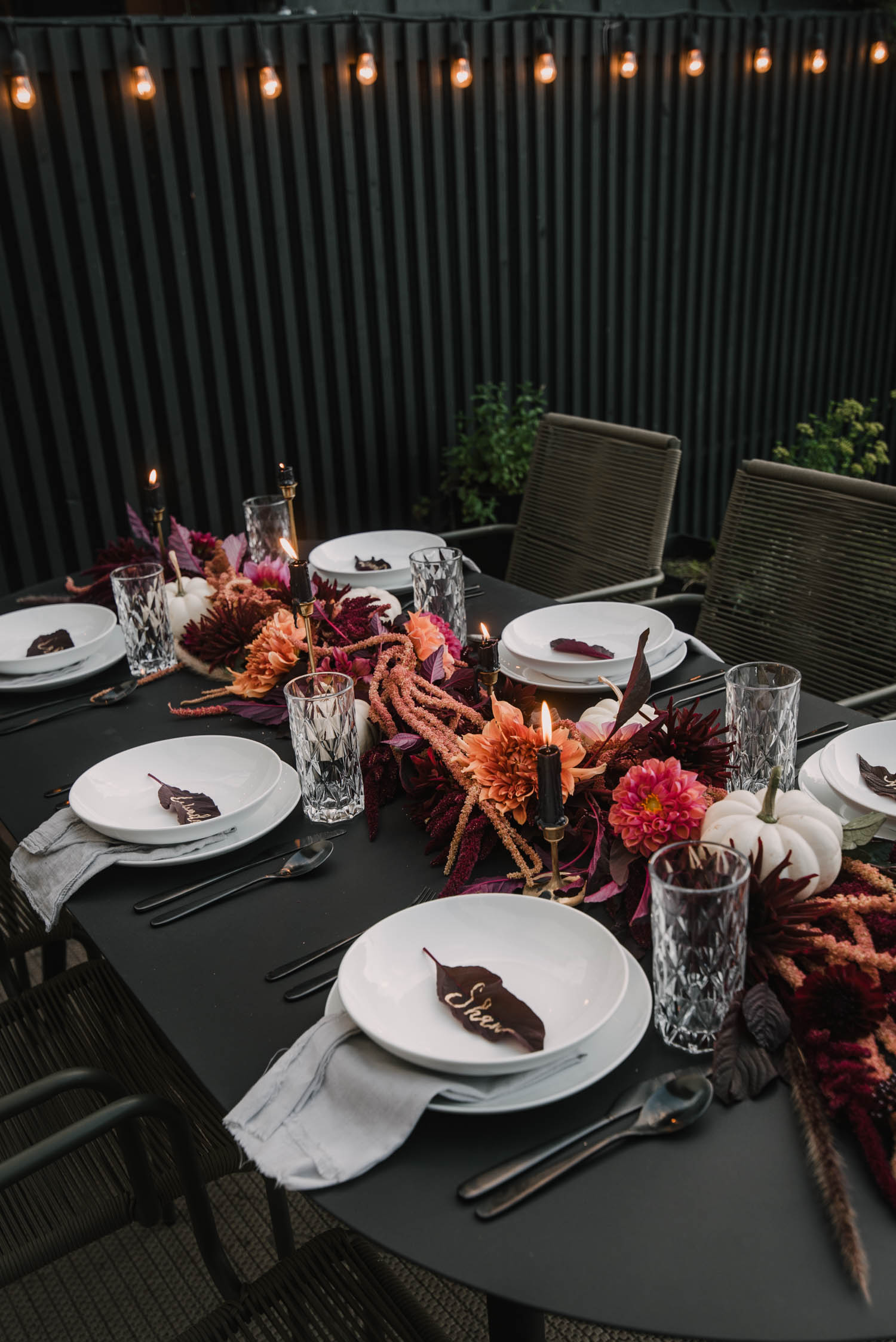 Modern Table Decorating for Autumn
