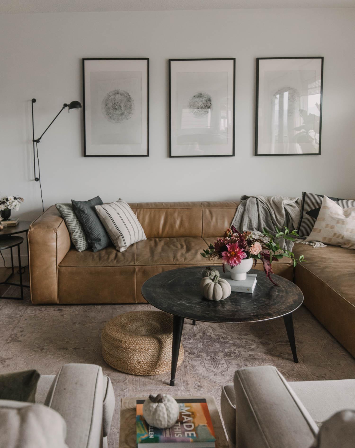 autumn living room decor