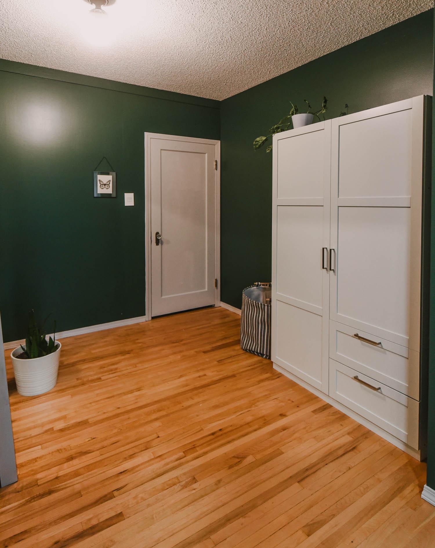 Green Bedroom white wardrobe